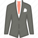 apparel, business, clothes, suit, top icon