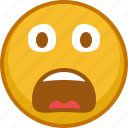 afraid, emoji, emoticon, emoticons, scared, smile icon