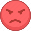 angry, emoji, emoticon, emoticons, expression, mad, smile icon