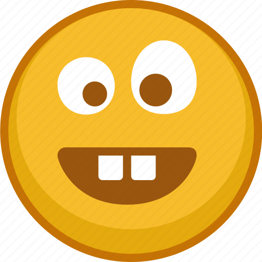 crazy, emoji, emoticon, emoticons, emotion, smile, teeth icon