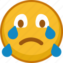 cry, emoji, emoticon, emoticons, emotion, expression, smile icon