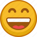 emoji, emoticon, emoticons, expression, laugh, mood, smile icon