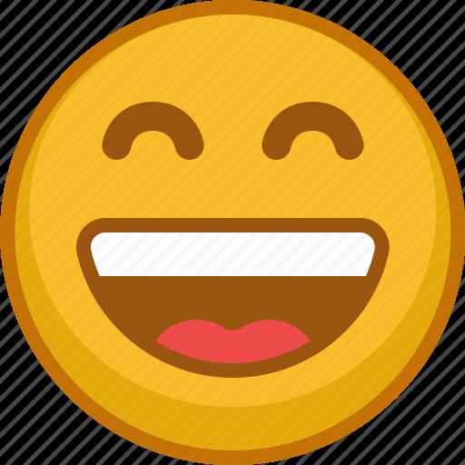emoji, emoticon, emoticons, expression, laugh, mood, smile icon
