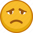 emoji, emoticon, emoticons, emotion, mood, sad, smile icon