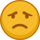 emoji, emoticon, emoticons, sad, smile icon