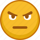 emoji, emoticon, emoticons, emotion, face, smile, sulky icon