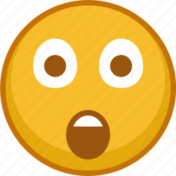 emoji, emoticon, emoticons, emotion, expression, smile, surprised icon