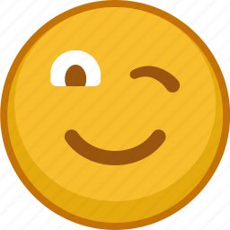 emoji, emoticon, emoticons, emotion, mood, smile, wink icon