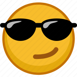 emoji, emoticon, emoticons, emotion, expression, glasses icon