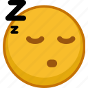 emoji, emoticon, emoticons, emotion, expression, sleepy, smile icon