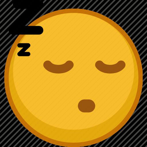 emoji, emoticon, emoticons, emotion, expression, sleepy, smile icon