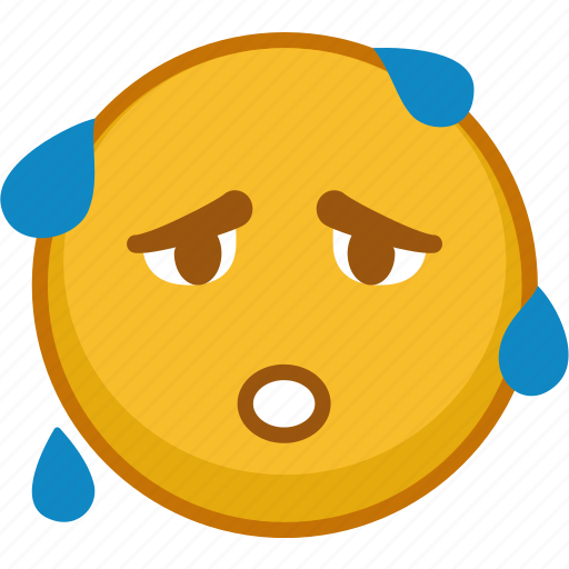 emoji, emoticon, emoticons, emotion, expression, smile, sweating icon