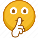 avatar, emoji, emoticon, emoticons, person, silence, smile icon