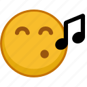 emoji, emoticon, emoticons, emotion, mood, sing, smile icon