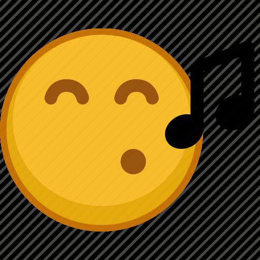 emoji, emoticon, emoticons, emotion, mood, sing, smile icon