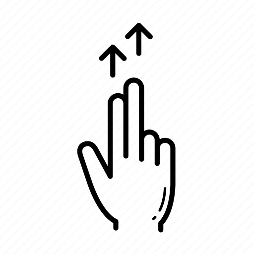 finger, flick, flick up, touch, touch gesture icon
