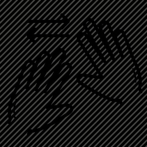horizontal, horizontal spread, spread, zoom in icon