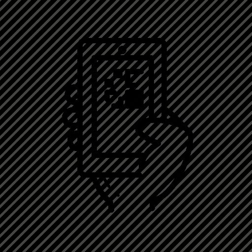 gesture, qr code icon
