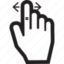 arrow, hand, left, move, right, touch icon