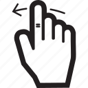 arrow, hand, left, move, touch icon