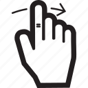 arrow, hand, move, right, touch icon