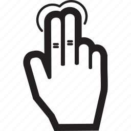 finger, hand, tap, two icon