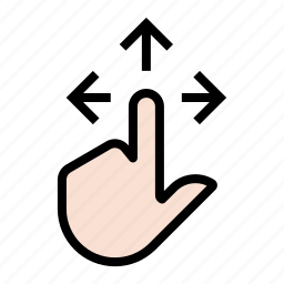 finger, gesture, hand, touch icon