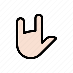 devil horns, gesture, hand, i love you, rock-n-roll, sign language icon