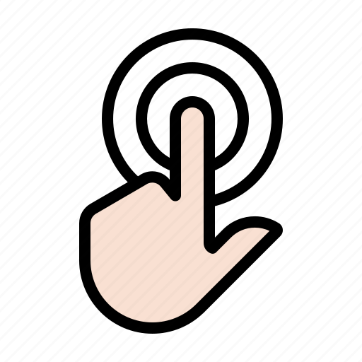 double tap, gesture, hand, touch icon