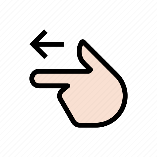 back, backward, gesture, hand, left, point, previous, touch icon