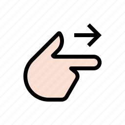 gesture, hand, right, touch icon