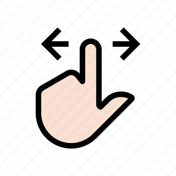 back-and-forth, gesture, hand, left, right, scroll, side-to-side, touch icon