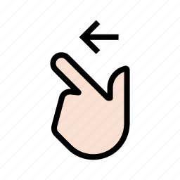 gesture, hand, swipe left, touch icon
