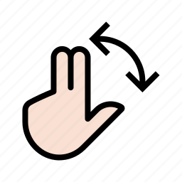 gesture, hand, rotate, touch icon
