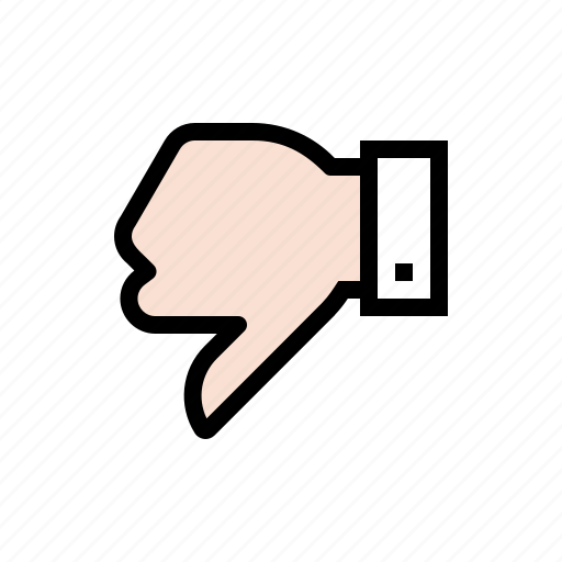 disapprove, dislike, gesture, hand, thumbs down icon