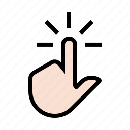 finger, gesture, hand, screen, tap, touch, touch screen icon