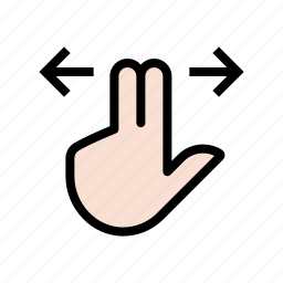 gesture, hand, left, right, scroll, touch, two finger icon