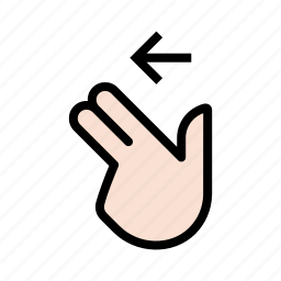 finger, gesture, hand, swipe, swipe left, touch, two finger icon