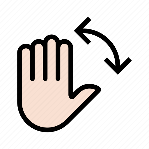 gesture, hand, palm, touch icon
