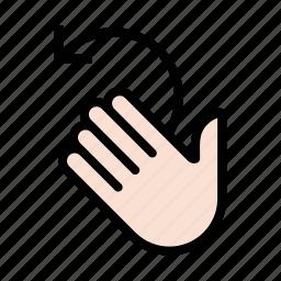 gesture, swipe, wash, wave, wax off icon