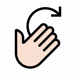 gesture, swipe, touch, wax on icon