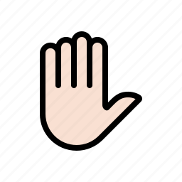 gesture, hand, palm, stop icon