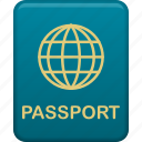 document, passport, tourism, travel, vacation icon