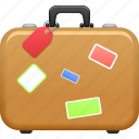 baggage, briefcase, luggage, suitcase, tourism, travel icon
