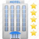 building, hotel, resort, tourism, vacation icon