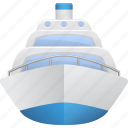 cruise, cruise ship, ocean liner, ship, tourism, vacation, vessel icon