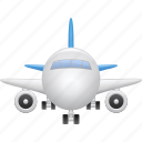 airplane, flight, plane, tourism, travel, vacation icon