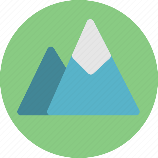 hill, landscape, mountains, nature, outdoor, scape, scenery icon