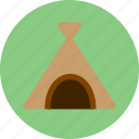 bivouac, camp, camping, encampment, tent icon