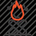 bonfire, campfire, camping, fire